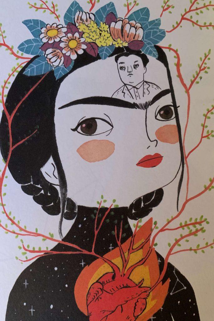 Frida mit Rivera im Kopf