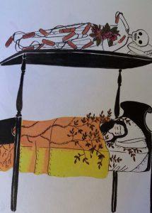 Frida Kahlo mit Geliebtem