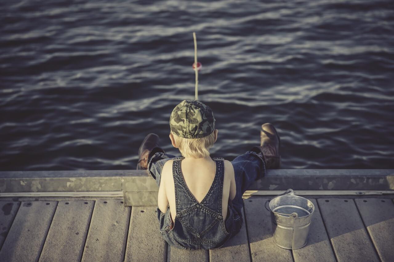 Ideen fischen in jungen Jahren