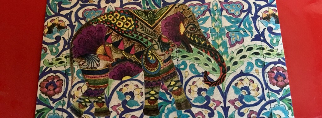 dekorierter Elefant: Ganesha
