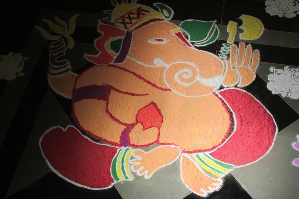 Ganesha, bunter Elefantengott