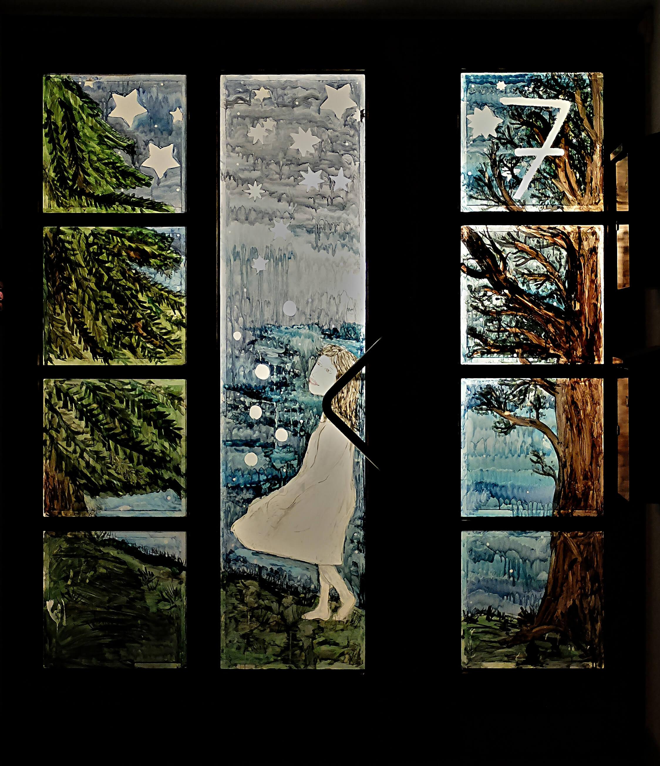 Adventskalender im Fenster